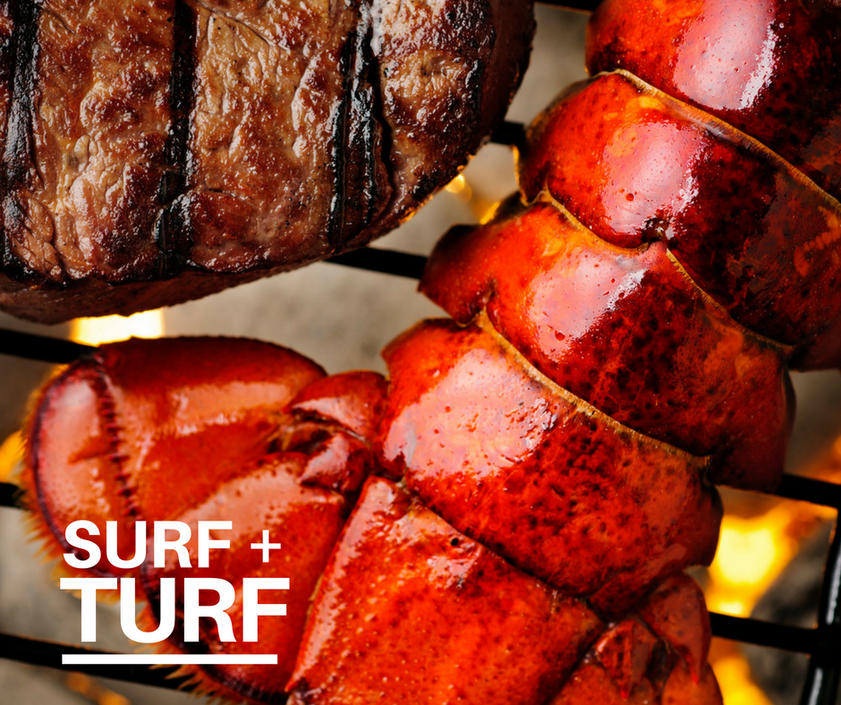 Surf and turf photo for father's day