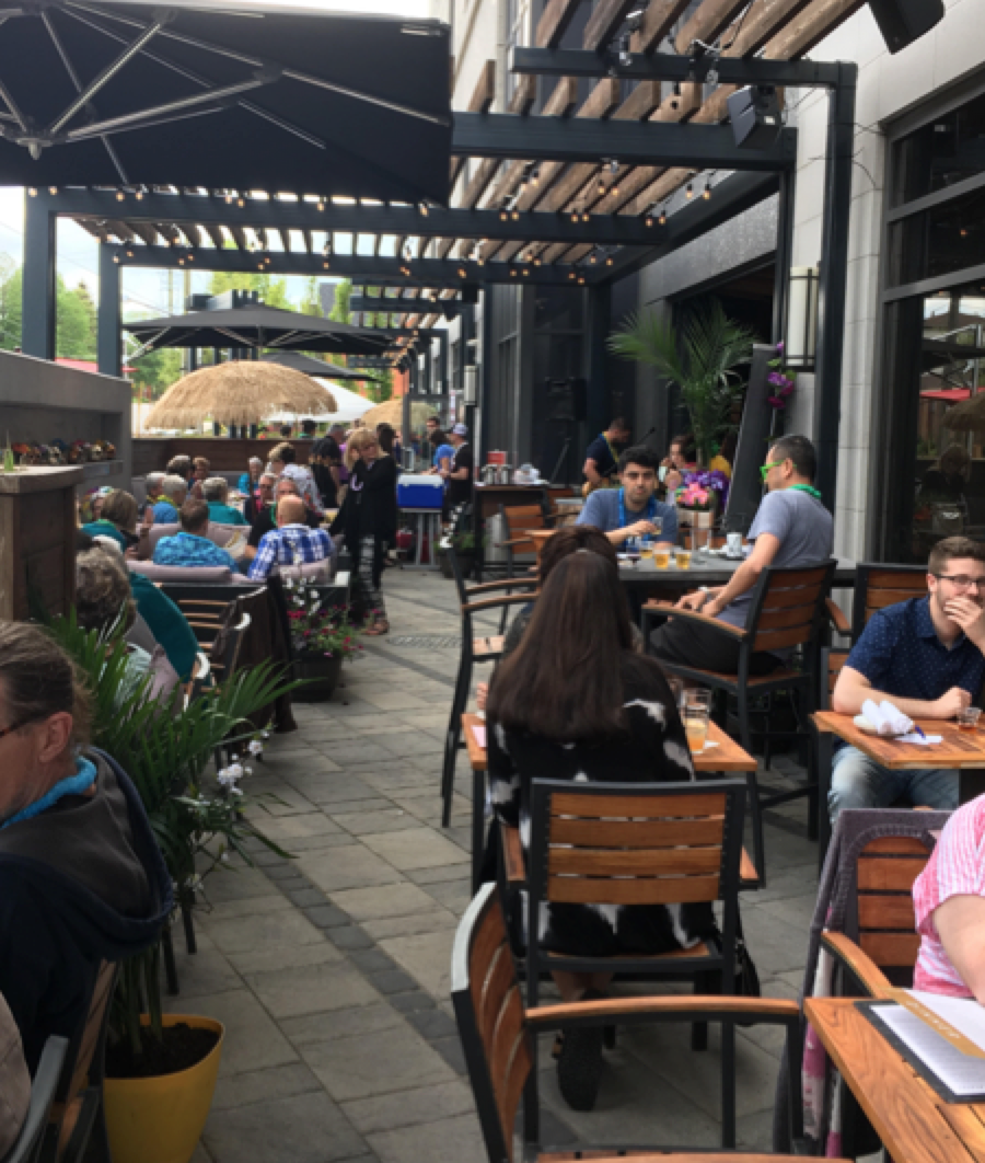 Photo of patio at Proof's Tiki Party