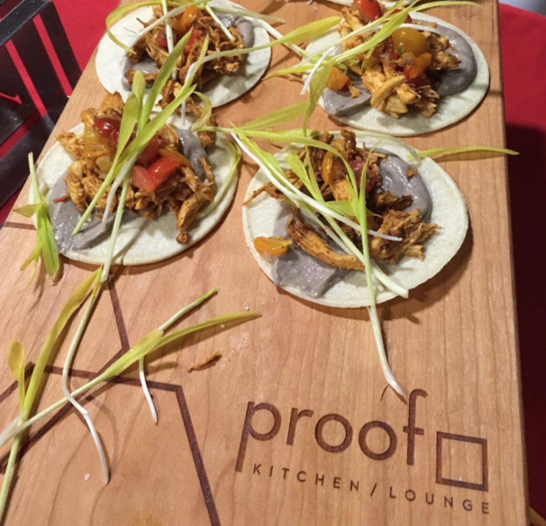 Proof Chicken Tinga Taco at Tacofest